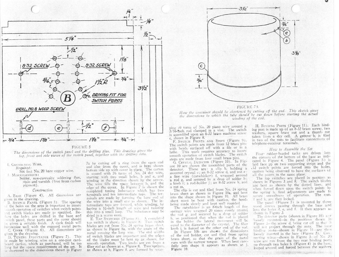 crystal radio plans  schematics  and circuits