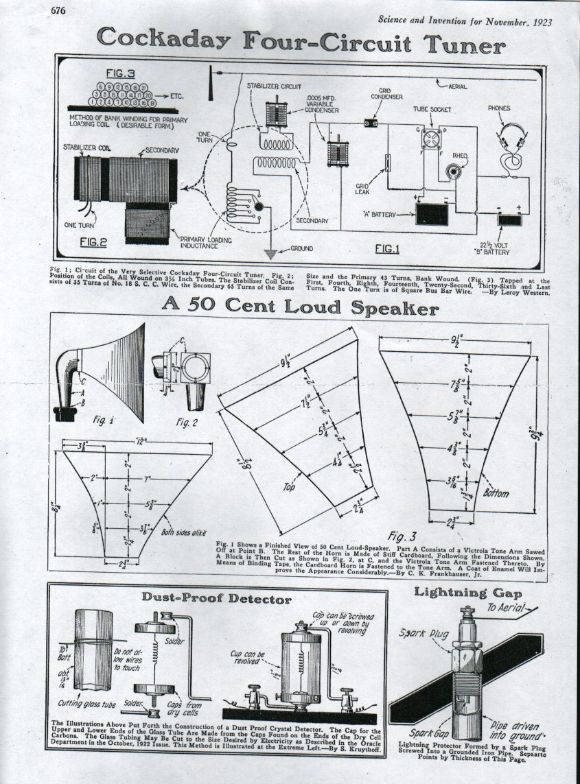 Antique Radio Forums View Topic Cockaday Four Circuit Tuner Onetube Transmitter Schematic Diagrams And Descriptions