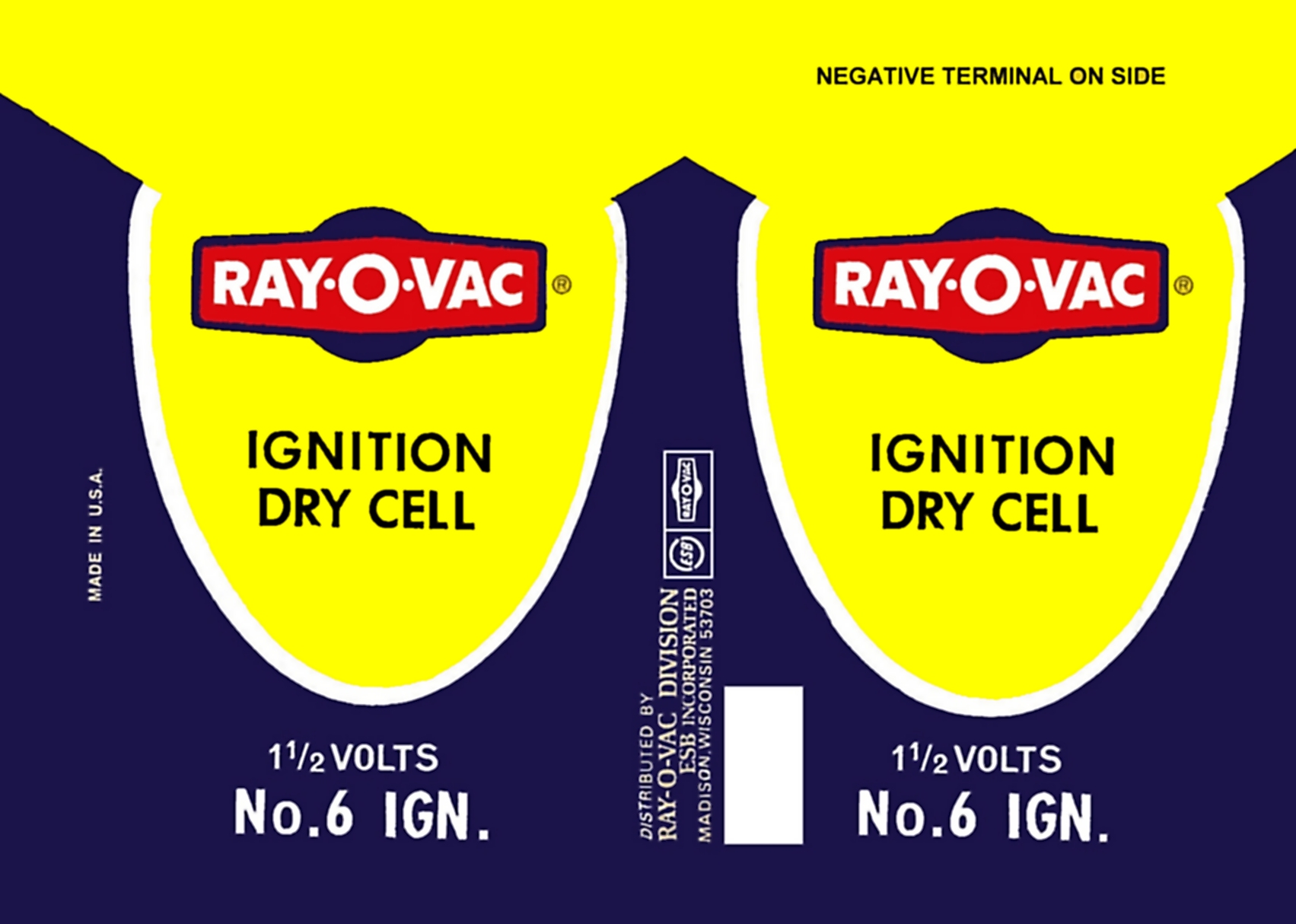 Ray o vac label wrapper from copy scan duplicate reproduction vintage