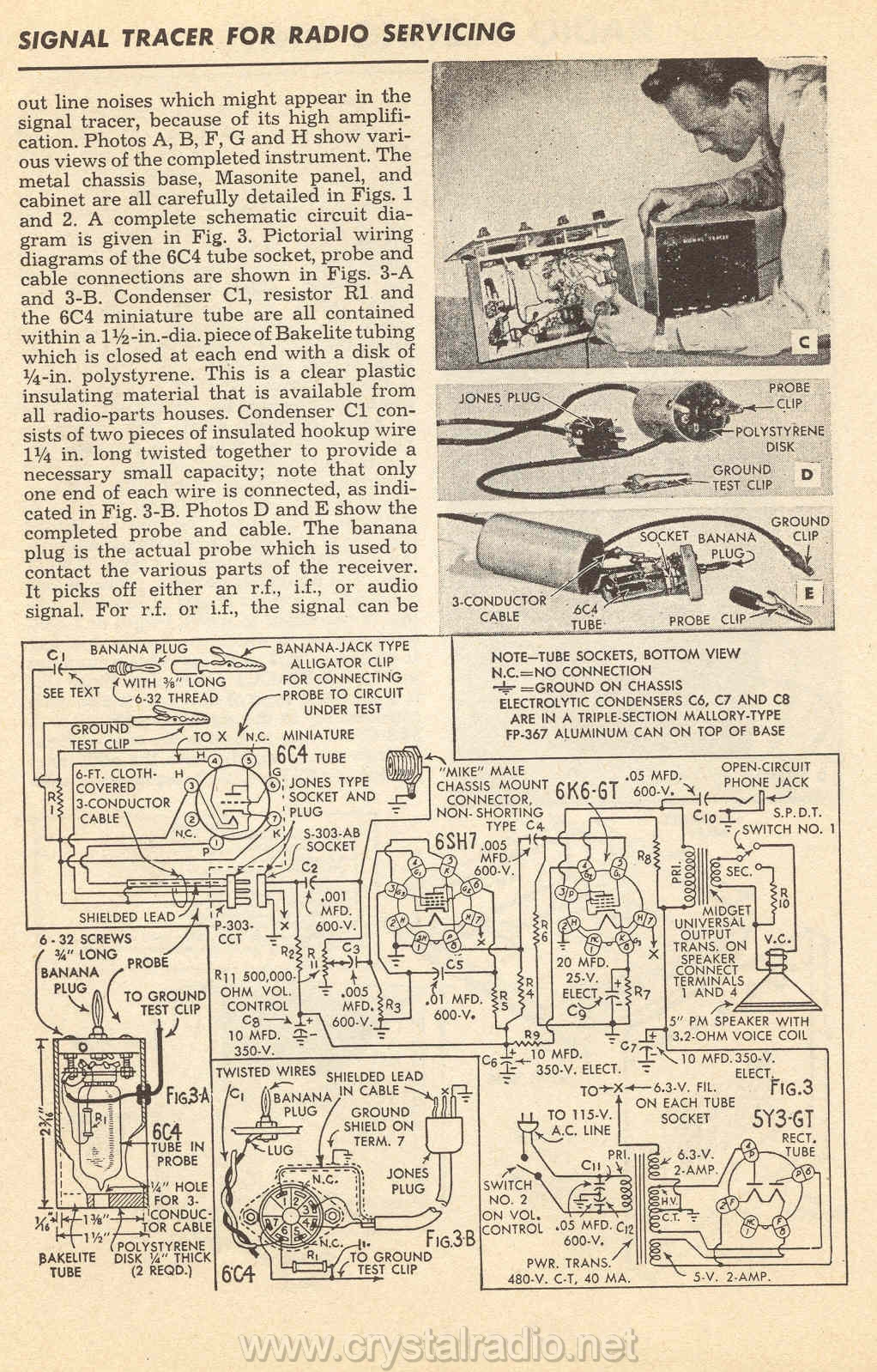 Tube Circuits Crystal Radio Circuit Signal Tracer For Servicing